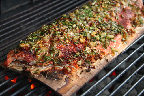 Crusted Plank Salmon