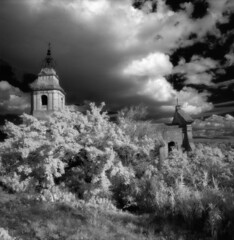 Eglise Saint Pierre - Infrared photo by schoeband