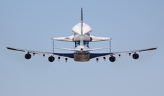 "Rockwell International Space Shuttle Endeavour OV-105 on Boeing 747-100SR Shuttle Carrier Aircraft (SCA) - N911NA ""NASA 911"" at EFD photo by AV8PIX Christopher Ebdon"