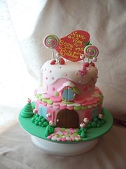 Strawberry Shortcake's house cake photo by Andrea's SweetCakes