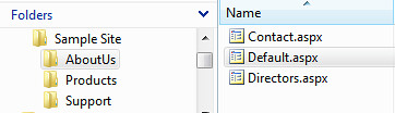 CSS Body Class - Folder Sample