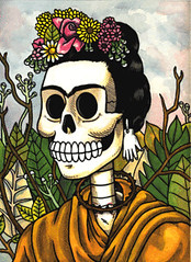 Frida Calavera w/Flowers photo by misnopalesart