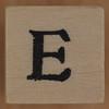 Stamp letter E
