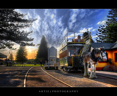 The Horse Drawn Trams - HDR photo by :: Artie   Photography ::