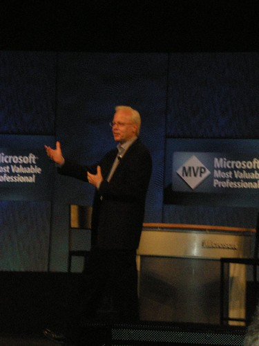 Ray Ozzie during MVP Global Summit 2008 keynotes