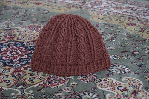 Cable Hat Finished
