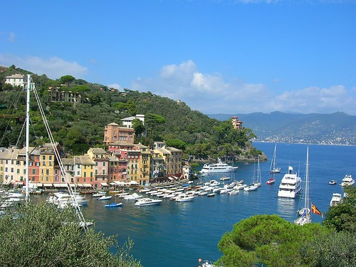 Looking down on beautiful Portofino