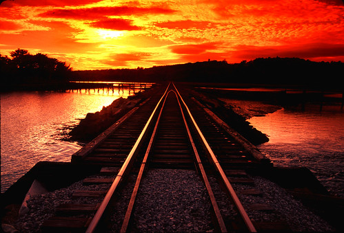 New Hampshire Tracks@sunset