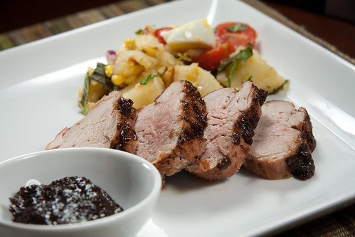 Grilled Pork Tenderloin with Ouzo-Plum Glaze