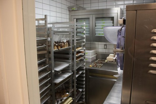 The chocolate and truffle room from the outside, the interior is kept at a brisk temperature