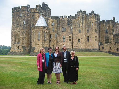 Delegates to the third World Summit on Arts and Culture in front of Alnwick Castle