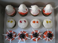 Spiders, Mummies, and Ghosts Cupcakes photo by abakedcreation