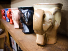 elephant mugs on parade