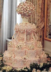 my pink wedding cake photo by Sarah-E