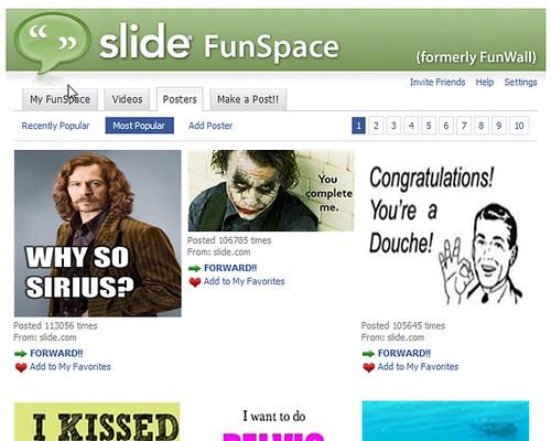페이스북 내의 슬라이드 FunSpace