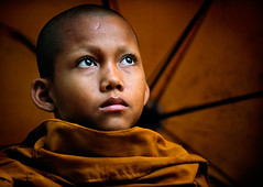 Monk of Siem Reap photo by Banhup Teh Photography