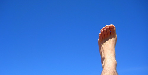 foot and sky
