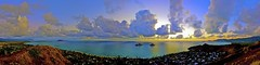 Sunrise panorama of Lanikai and Mokulua Islands in Hawaii photo by The Smoking Camera