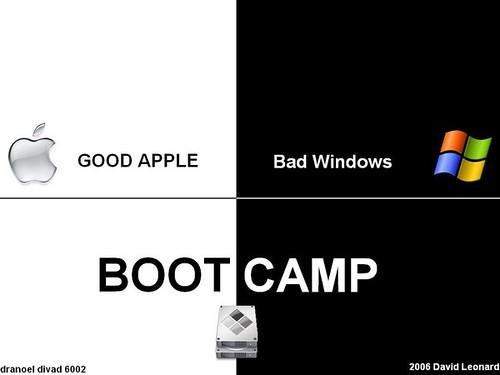 bootcamp+Mac --> Mac + Windows XP  ..logo