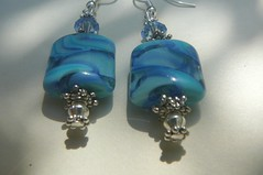 Lampwork Earrings - SOLD photo by Mandy Harvey aka Beadsme