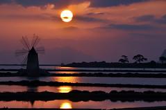 Sunset on the windmill (Explore) photo by salvatore benanti