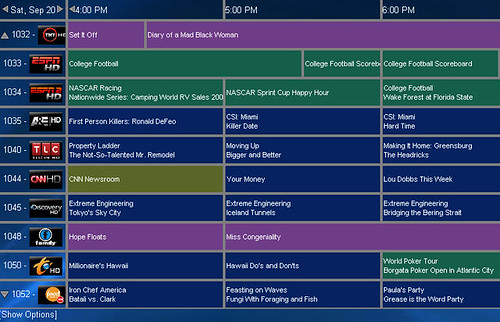 SageTV Web Interface TV Guide