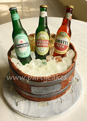 Beer bottle cake for my husband :) photo by Party Cakes By Samantha