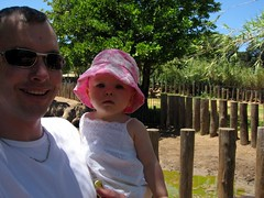 Dave and Charlotte near the rhino
