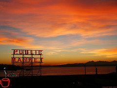 Pike Place Vermillion Sky photo by Zonnie Toledo