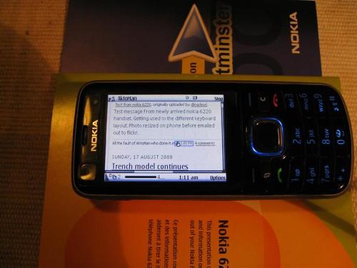 Nokia 6220 blog