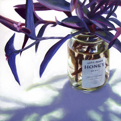 Plant in Honey Jar photo by nance danforth painting studio