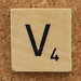 Wood Scrabble Tile V