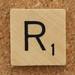 Wood Scrabble Tile R