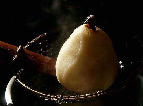 pear, freshly poached