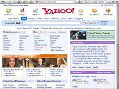 Yahoo.com 800 x 600