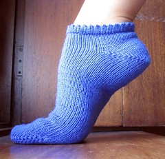 cobalt blue sock