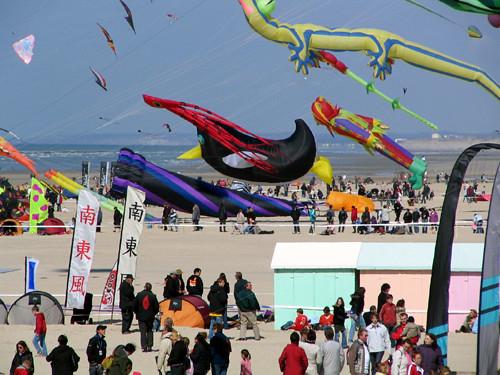 Drakfestival i Berck-sur-Mer