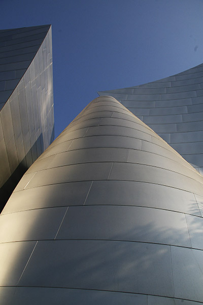 Looking up at Disney Concert Hall