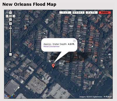 New Orleans Flood Map