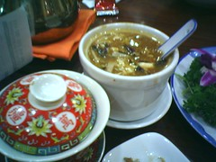 Hot and Sour Soup and S$3 tea