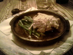 Fish with Enoki Mushrooms and Asparagus