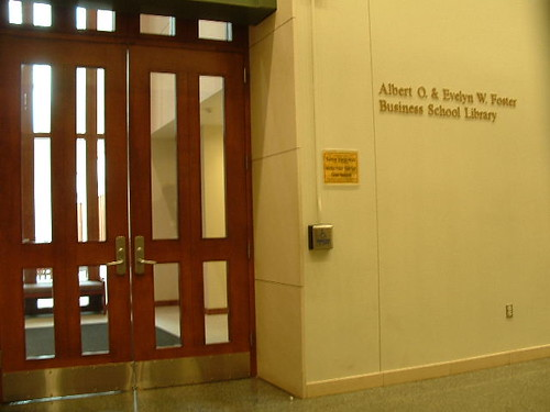 Foster Business Library entrance