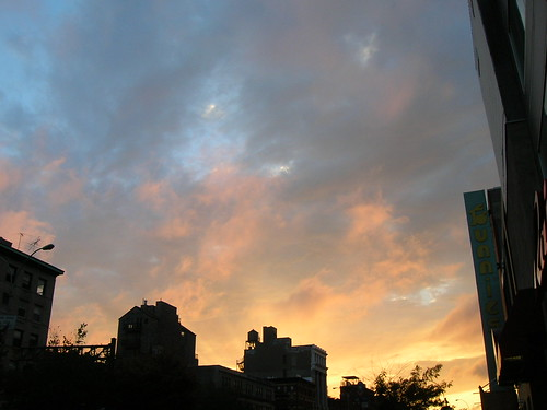 delancey street sky thursday evening