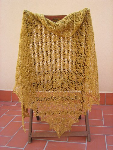 Flower Basket Shawl, finished