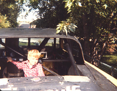 me in my uncle's race car