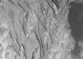 Sedimentary rocks Terby Crater, Mars