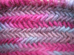 Herringbone stitch, right side