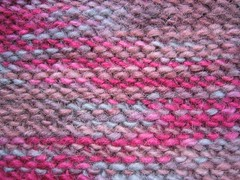 Pseudo herringbone stitch, wrong side