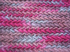 Pseudo herringbone stitch, right side