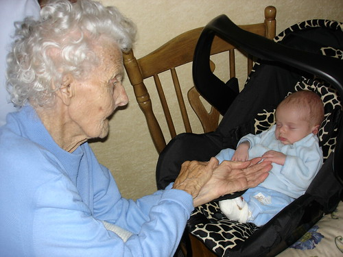 Oliver and his Great Grandmother